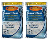 24 Electrolux Allergy Micro filtration Canister Tank Style C Vacuum Bags, Models L,E G, Super J, Golden J, Silverado, Diamond Jubilee, Grand Marquise, ultralux, Epic, Special Edition, Lux Legacy, Diplomat, LE, Amassador, Plus Vacuum Cleaners, 2100, 6000, 5000, 2000, 5500