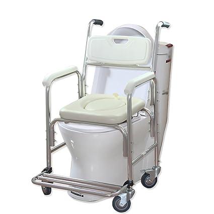 MyAou-commode Silla de Ruedas para Adultos Silla de baño para Adultos Silla de Inodoro