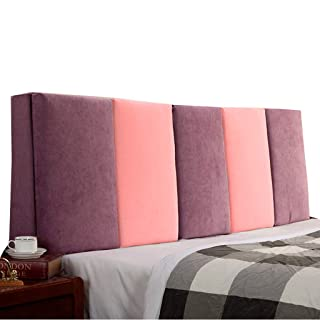 Bed Backrest Cushion for Headboard Bedside Soft Double Pillow Sofa Upholstered Lumbar, 4 Colors, 5 Sizes (Size : B 200 * 55cm) shuihua-kaodian