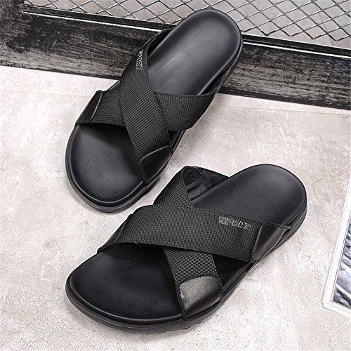 Libre descubiertas Zapatillas los al el Hombres Zhou y pies adecuadas Sharon Desgaste de para Verano de de del los Interior el Black Aire Verano Zapatillas de Antideslizantes Primavera de otoño 0xZwO