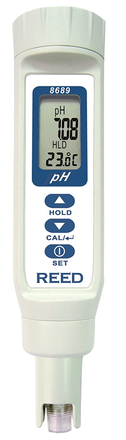 REED Instruments 8689 Digital pH Meter/Pen, 0.00 to 14.00 pH, ±0.05 pH Accuracy, Waterproof ±0.05 pH Accuracy