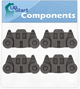 4-Pack W10195416 Lower Dishwasher Wheel Replacement for Maytag MDB7749SBM3 Dishwasher - Compatible with W10195416V Dishwasher Wheel - UpStart Components Brand