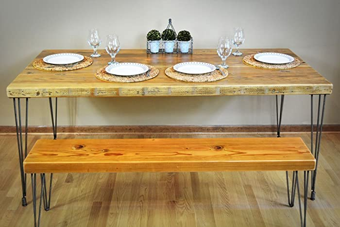 Handmade Reclaimed Wood Dining Table   Salvaged Barn wood   1 65 Inches  Thick   24 Inches. Amazon com  Handmade Reclaimed Wood Dining Table   Salvaged Barn