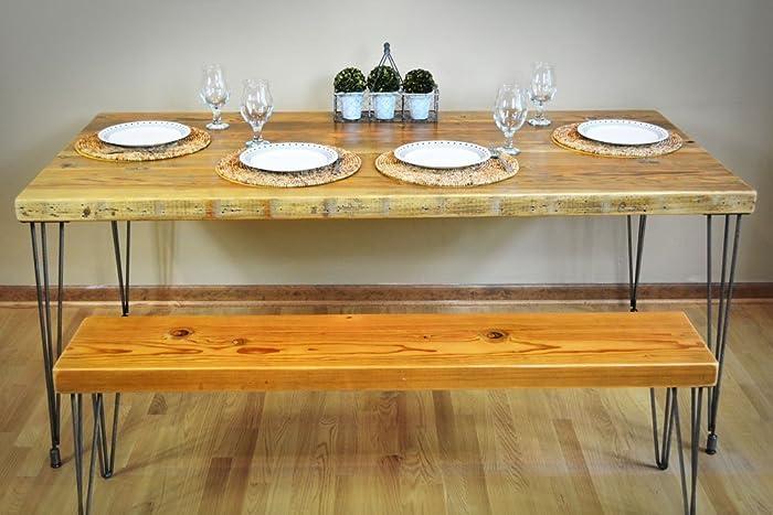 Amazoncom Handmade Reclaimed Wood Dining Table Salvaged Barn