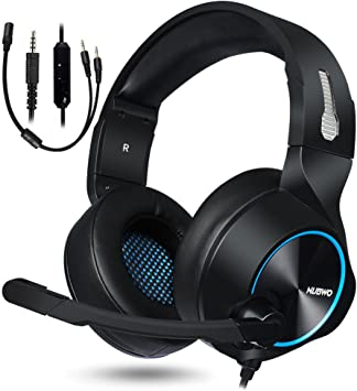 NUBWO PS4 Xbox One Auriculares Gaming, 3.5mm HD Stereo Cancelacion ...