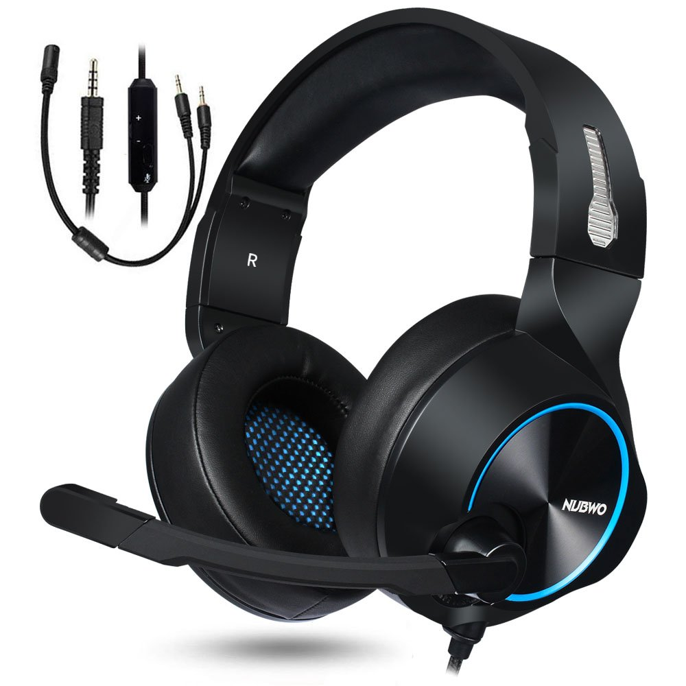 NUBWO Gaming Headset, PS4 Xbox One Headset, Stereo PC Headset Noise  Cancelling Gaming Headphone with Mic, Comfort Memory Earmuffs, Volume  Control for