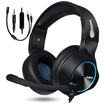 c036baf87cd NUBWO Gaming Headset, PS4 Xbox One Headset, Stereo PC Headset Noise  Cancelling Gaming Headphone