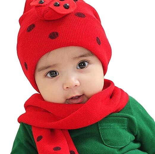 Hosaire 1X Sombreros y Gorras para Bebés Niño Niña y Bufandas del ...