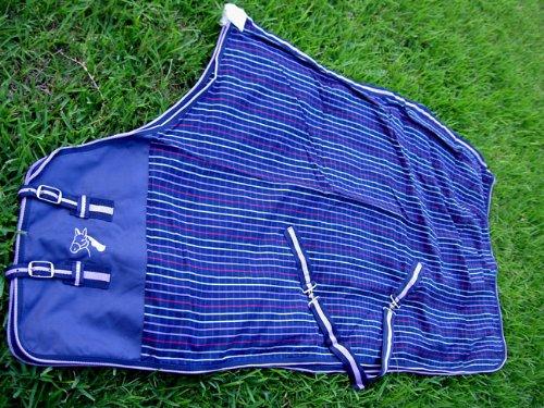 82 inches CHALLENGER Horse Cotton Sheet Blanket Rug Summer Spring Navy 5324
