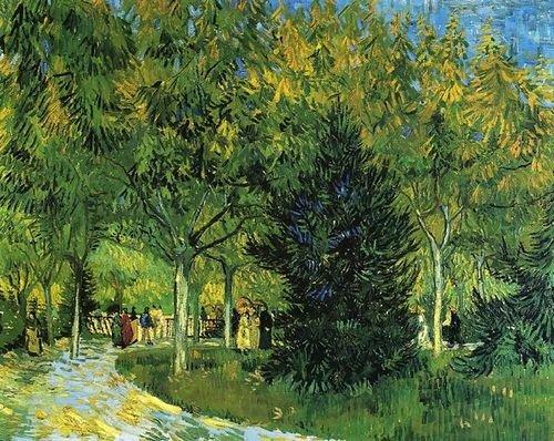 Vincent Van Gogh Avenue in the Park 46x36の商品画像