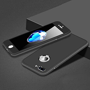 timeless design c6a74 03019 Leobray iPhone 5 Case,iPhone SE Case, 360° Full Body Silicone [with  Tempered Glass Screen Protector] Shockproof Soft TPU Matte Finish Slim  Phone ...