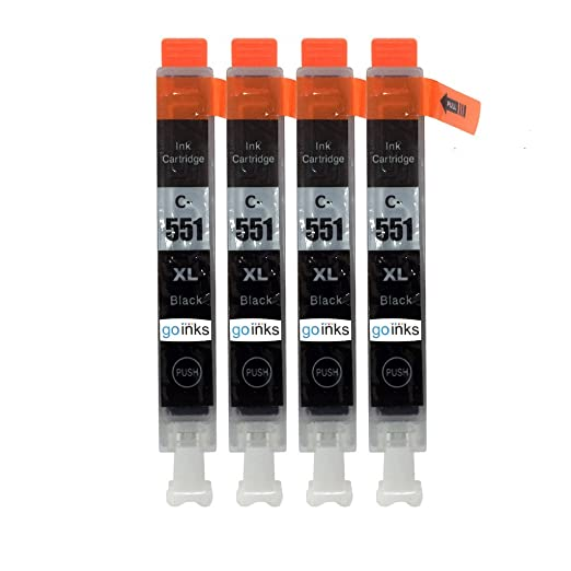 9 opinioni per 4 Black Compatible Canon CLI-551Bk Printer Ink Cartridge for Canon Pixma iP7250,