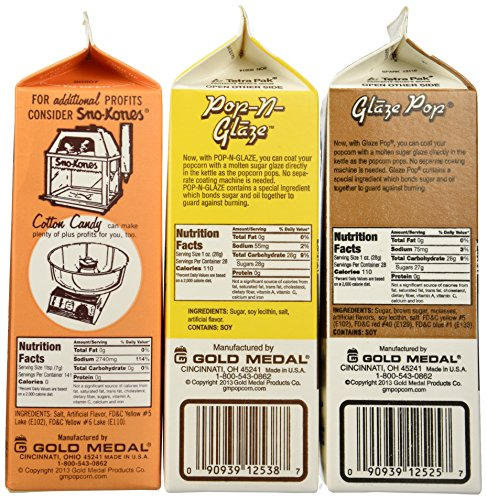 Amazon Flavacol Salt And Glaze Pop Flavoring 3 Pack Grocery