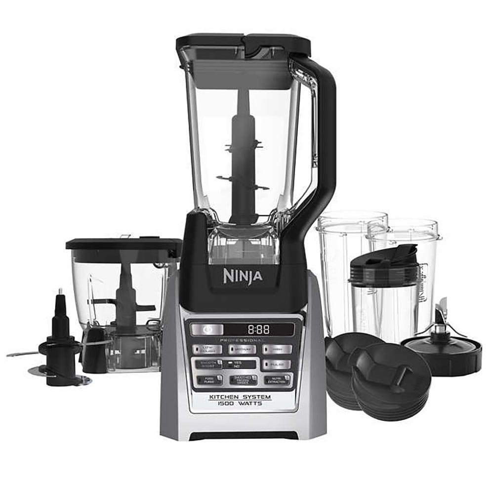 Ninja Auto-iQ Total Boost Kitchen Nutri Blender System with 1500 Watts professional base- BL687CO (Renewed)
