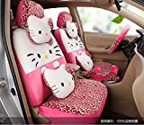 1 set classical cartoon peach leopard fashion universal car front and back seat covers car waist pillows neck pillows hand brake cover