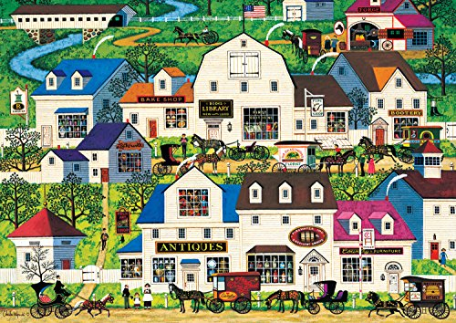 Buffalo Games - Charles Wysocki Americana Collection - Shops & Buggies - 500 Piece Jigsaw Puzzle