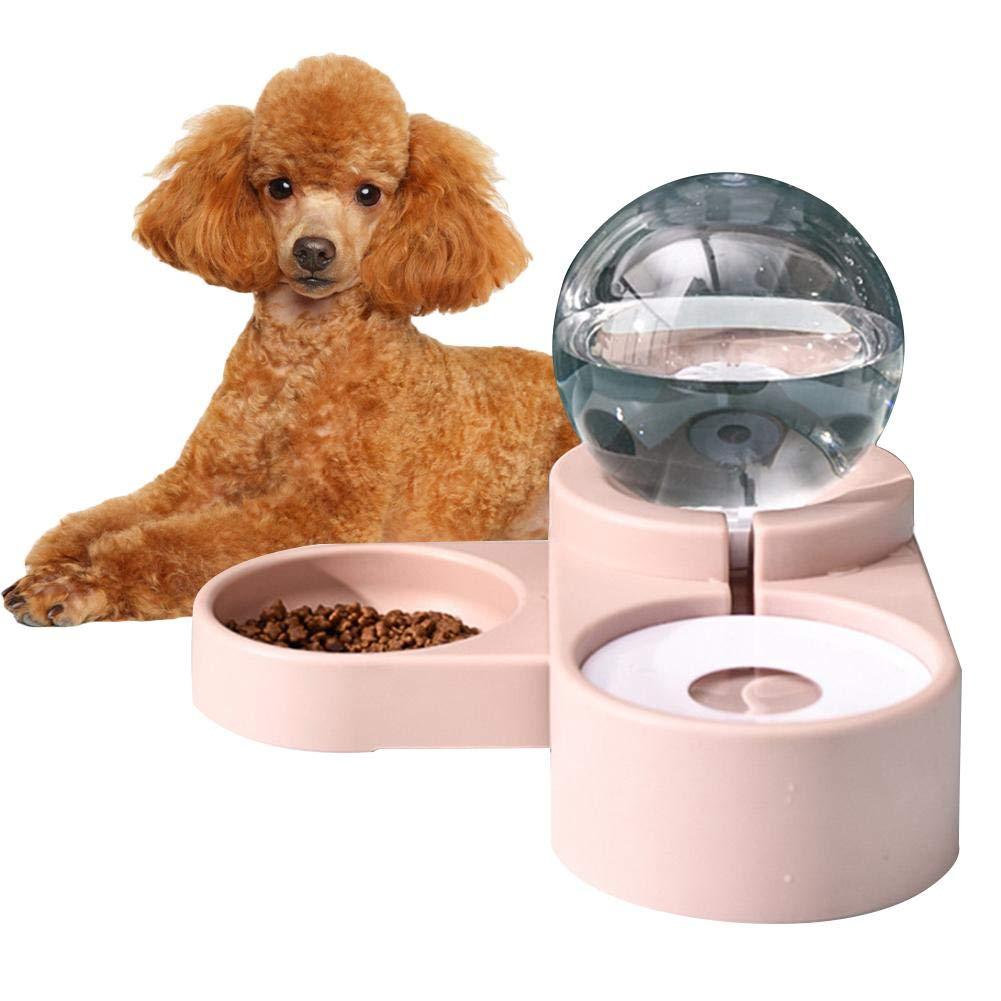 47x23x16 cm 1.8L Autom/ática Dispensador Comida y Agua para Perros Gatos Cuenco Dispensador para Mascotas perfecti Comederos De Gatos Autom/áticos