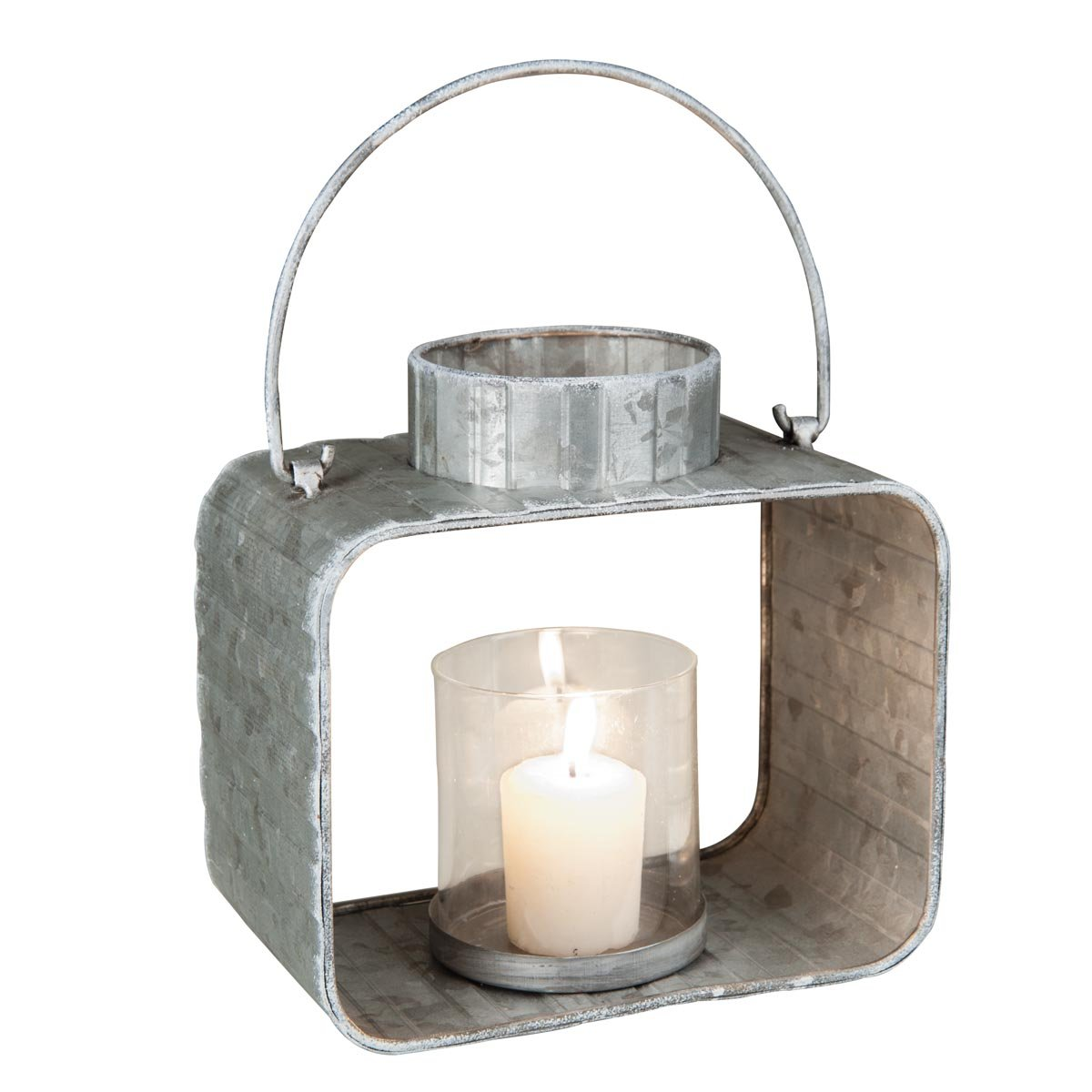 Foreside Home /& Garden Foreside Large Galvanized Candle Lantern
