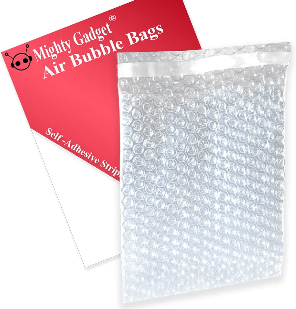 5 x 6 Clear Christmas Packaging Self-Seal Bubble Pouches 450//Case