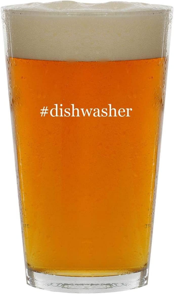#dishwasher - 16oz Hashtag Clear Glass Beer Pint Glass