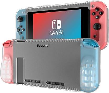 Teyomi Funda Nintendo Switch, Carcasa Protectora de Silicona para Nintendo Switch con 2 Ranuras de Almacenamiento para Tarjetas de Juego Absorción de Choque y Antiarañazos: Amazon.es: Electrónica