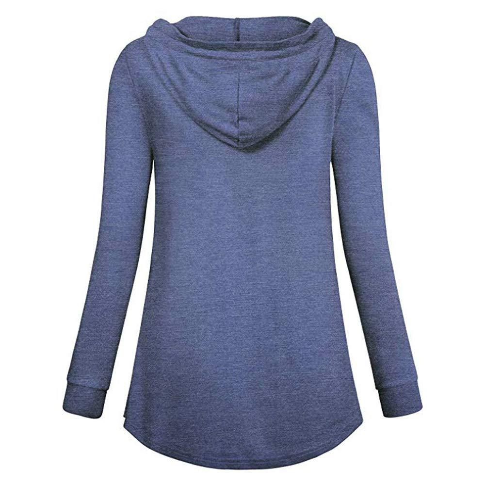 Zerototens Pregnancy T-Shirt,Women Long Sleeve Double Layer Nursing Hoodie Tops Breastfeeding Sweatshirts Maternity Pullover Top Plus Size S-3XL