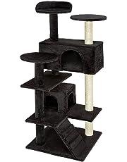 TecTake Arbre á chat Griffoir Grattoir avec 2 grottes 132cm - diverses couleurs au choix -