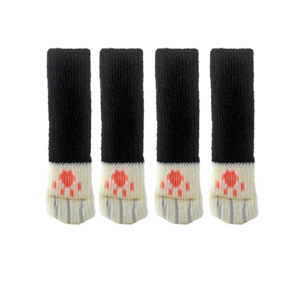 Sunward 4 Pcs Chair Socks - Furniture Feet Covers Caps Pads,Anti Scratch Knitted Wool Chair Leg (D)