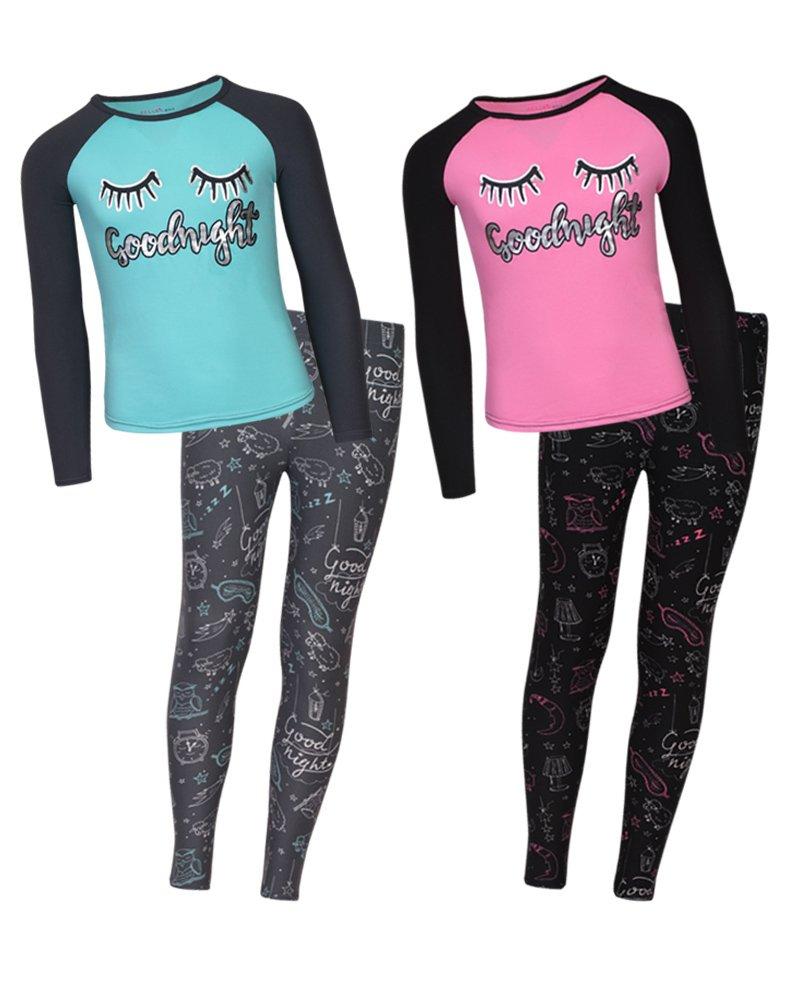dELiA*s Girls Yummy Pajama Sleepwear Sets, Goodnight, Size 7/8'