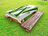 Ambesonne Letter W Outdoor Tablecloth, Bamboo Branches Forming Letter W Zen Spa Themed Alphabet Typeset Green Leaves, Decorative Washable Picnic Table Cloth, 58 X 104 inches, Green White