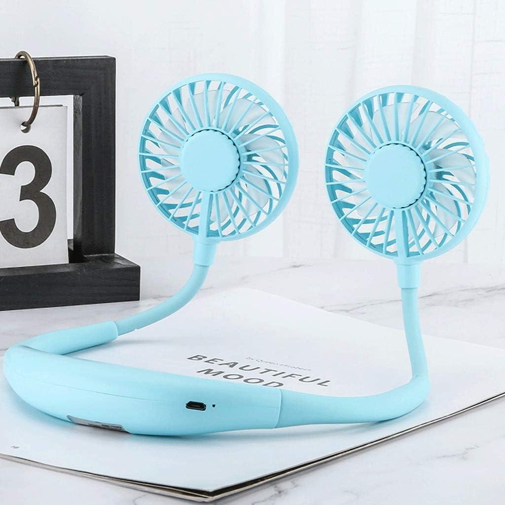 with Rechargeable 2000 mAh Portable Outdoor Sport Electric USB Fan LH Shop Mini Color : Black