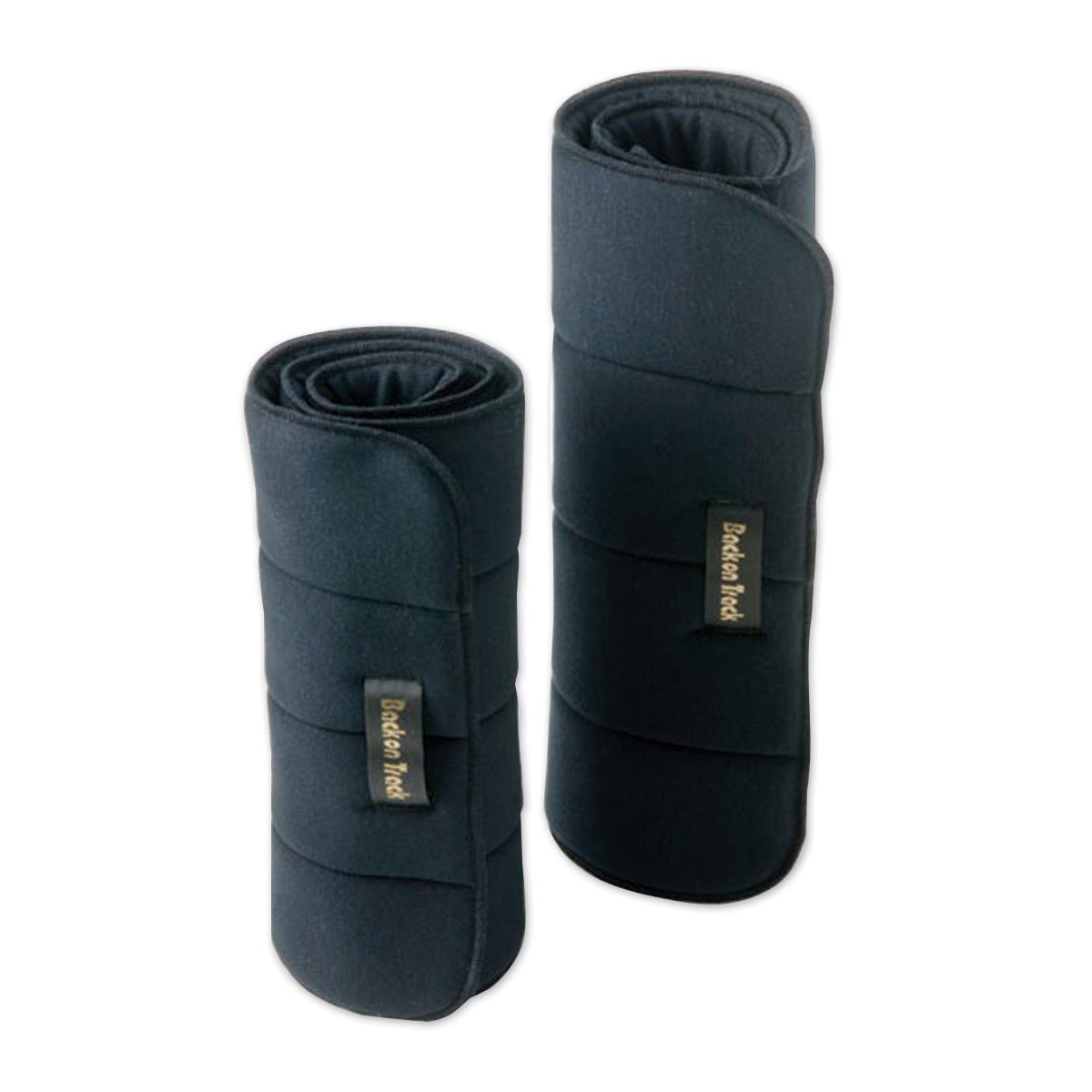 Back on Track Therapeutic No Bow Leg Wraps, Pair, 16 inch, Black