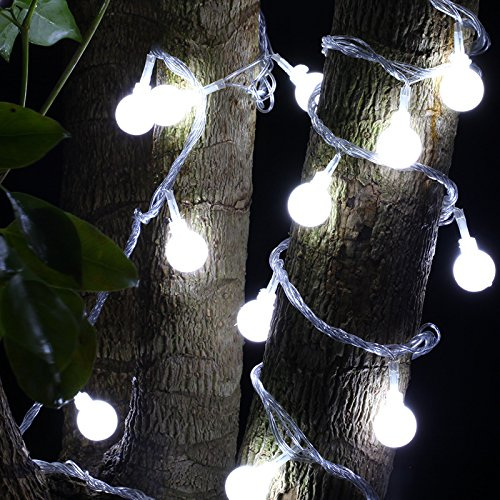 Neodot LED Globe String Lights, 100 LED 33ft/10m Waterproof Ball Flash Lights for Christmas Trees Wedding New Years Pation Garden Indoor Outdoor Bedroom Atmosphere Decorations with US Plug -
