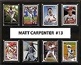 MLB St.Louis Cardinals Men's Matt Carpenter 8-Card Plaque, Brown
