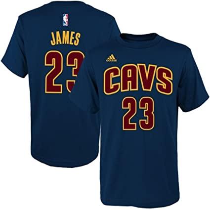 9c970bea7 adidas Lebron James Cleveland Cavaliers Kid's Navy Jersey Name and Number T-Shirt  Small 4