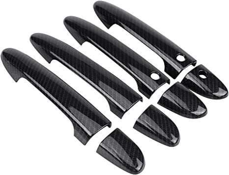 Carbon Fiber Exterior Side Door Handle Trim Cover Sticker For Mazda CX-5 CX5 18