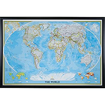 Amazon executive world push pin travel map with black frame and craig frames wayfarer classic world push pin travel map gallery black frame and pins 24 by 36 inch gumiabroncs Images