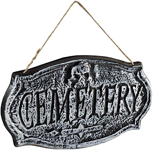Forum Novelties Ghouls Graveyard Hanging Cemetery Sign, Gray]()