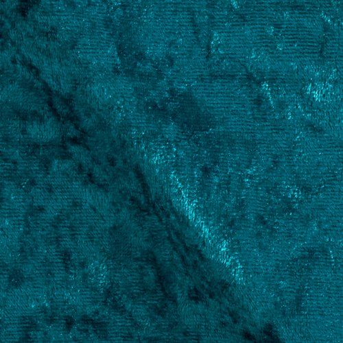 Stretch Panne Velvet Velour Teal Fabric By The Yard (Stretch Fabric Velour)