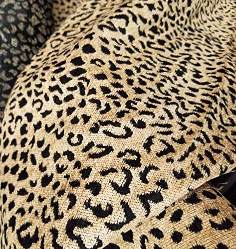 - Chenille Tapestry Upholstery Fabric Leopard Print Chenille Sold by Yard