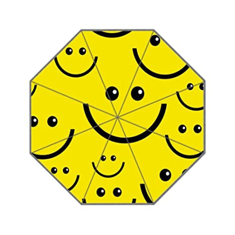 Amazon Reong Funny Smiley Faces Folding Umbrella For Girls