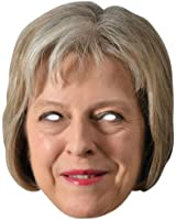 Theresa May PM 2D Card Celebrity Party Face Mask