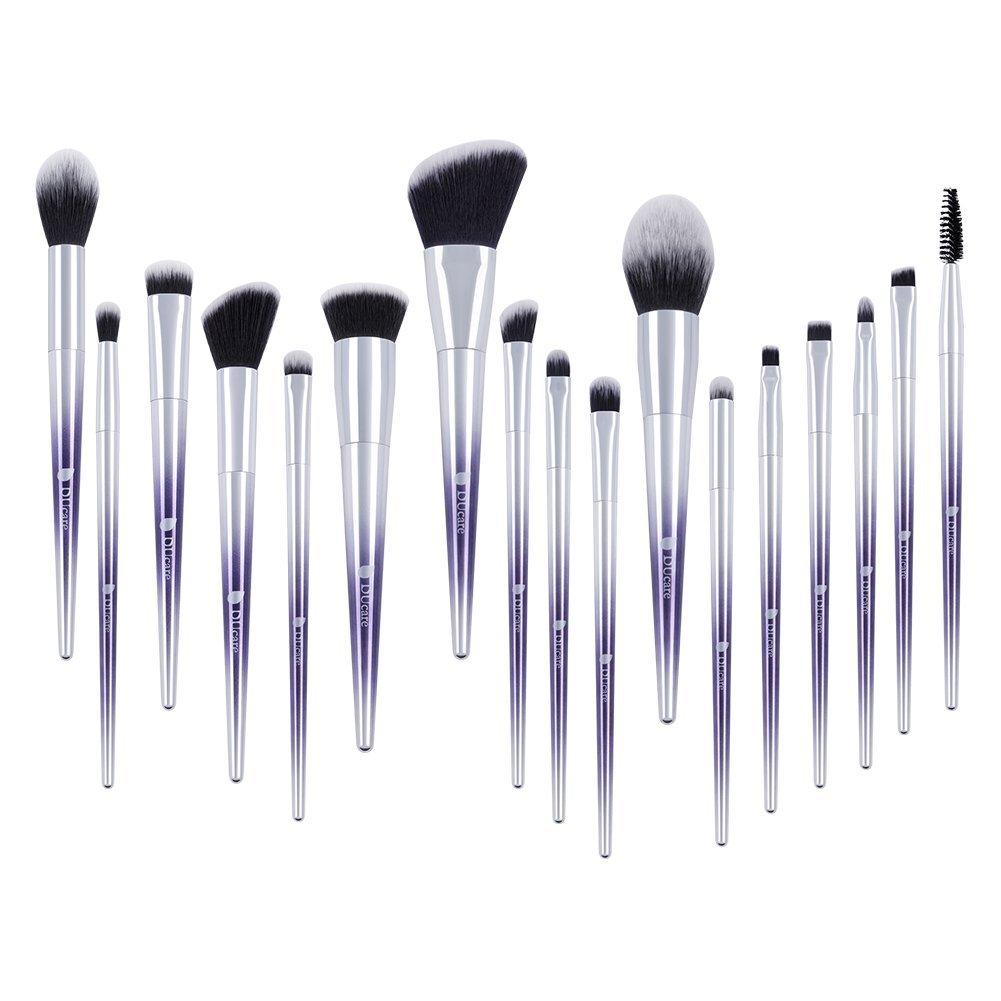 DUcare Makeup Brush Set 17Pcs Ombré Color Professional EyeShadow Foundation Powder Blending Brushes