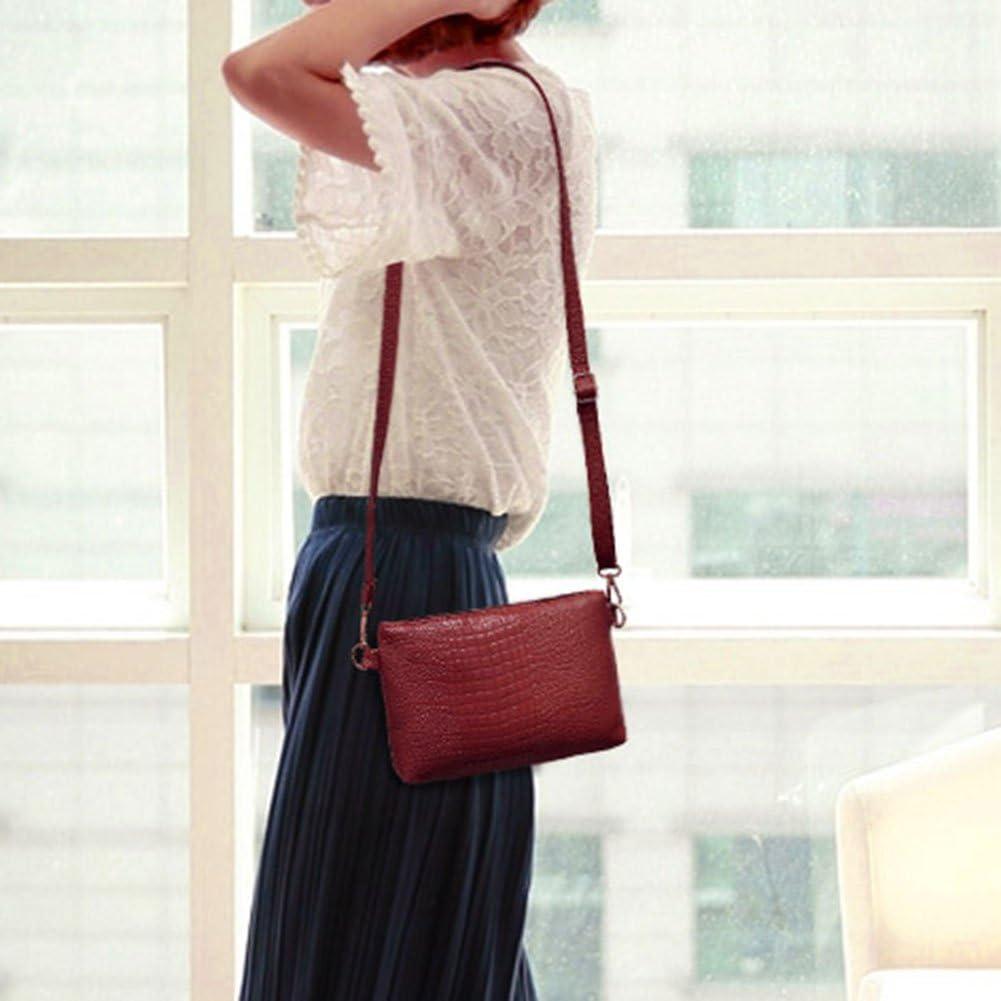 Domybest Women Luxury PU Leather Messenger Bag Shoulder Bag Crossbody Bag