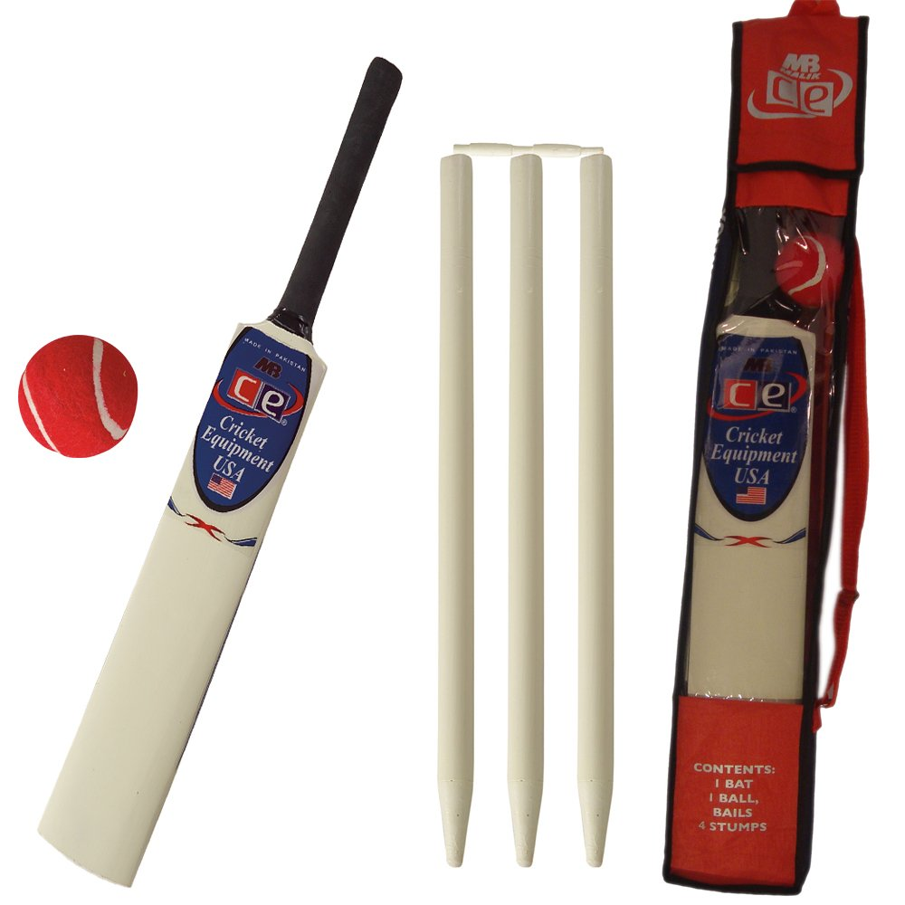CE Young American Cricket Gift Set for Kids by Cricket Equipment USA - Size 6