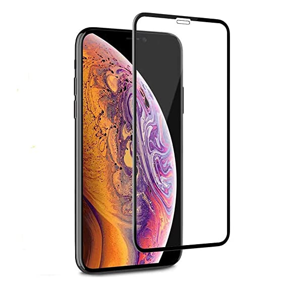 low priced 307e0 0787f iPhone Xs MAX Screen Protector 6.5'' 6D Tempered Glass Screen Protector  Full Screen with 9H Hardness+ Touch Screen Accuracy+ Easy Installation