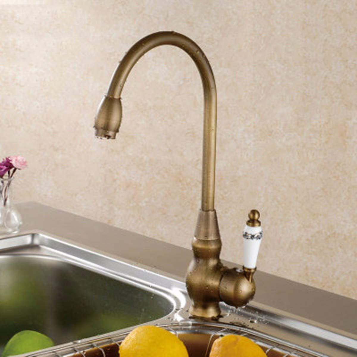 E QPGGP-Kitchen mixer European Copper Ancient Kitchen Faucet,B