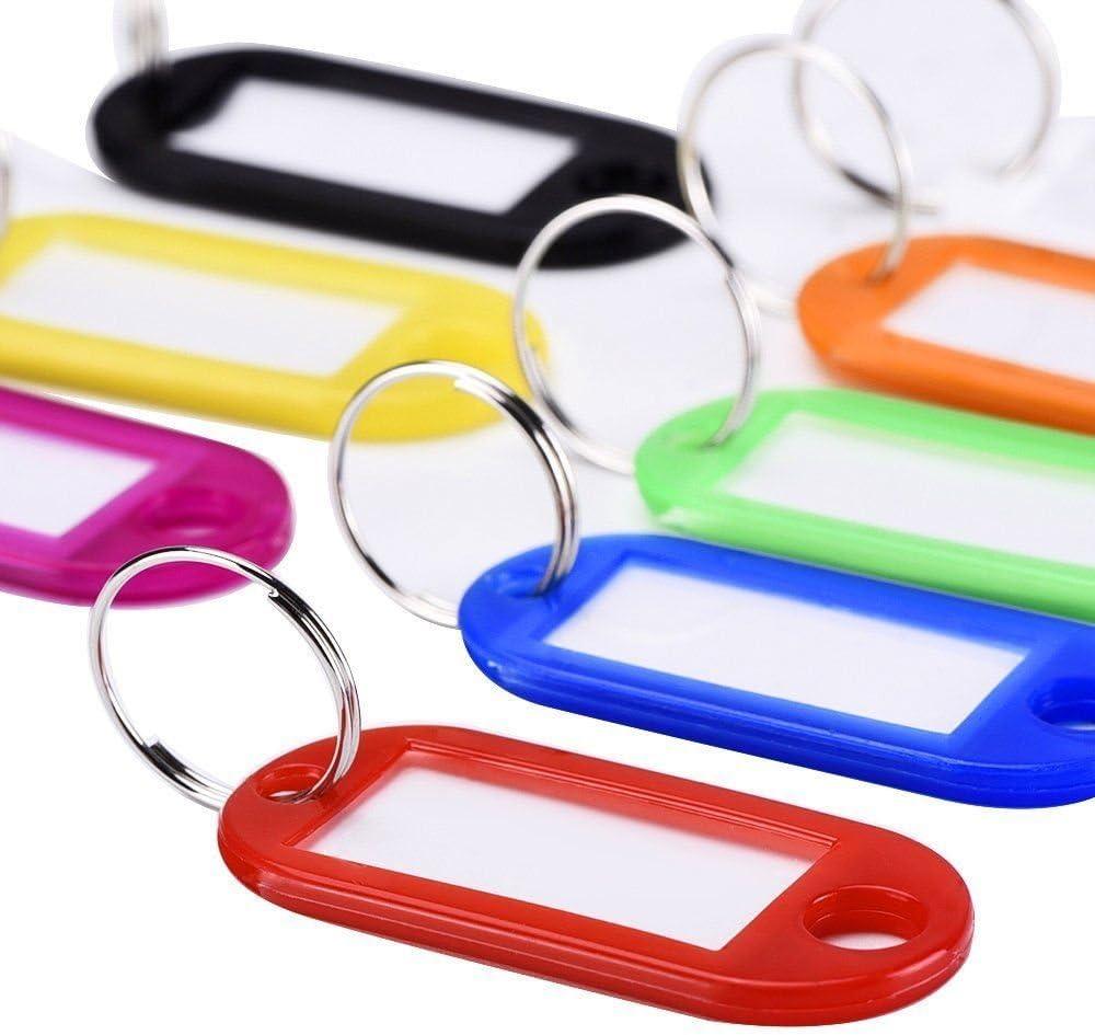 XMOWES tag tappo chiave tag di identificazione e dividere chiave di plastica dellanello ID tag bagagli 30Pcs