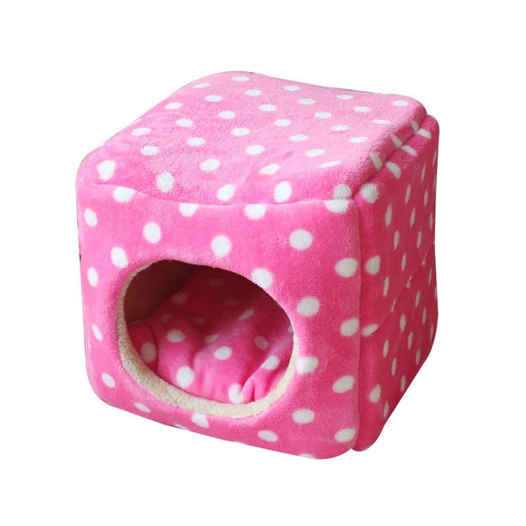 B 333333cmGwanna Small And Medium Pet Sleeping Bag Pet Mat Square Pet Bed Dog Mat Cat House Dog Nest Pet Supplies Rest mat (color   C, Size   33  33  33cm) Soft Pad for Pets Sleeping