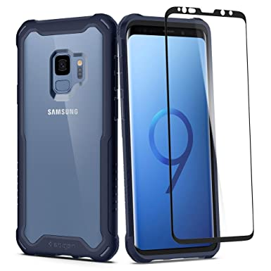brand new b5bfc 38000 Samsung Galaxy S9 Case, Spigen® [Hybrid 360] Galaxy S9 Case with 360 Full  Body Coverage Protection with Glass Screen Protector for Samsung Galaxy S9  ...
